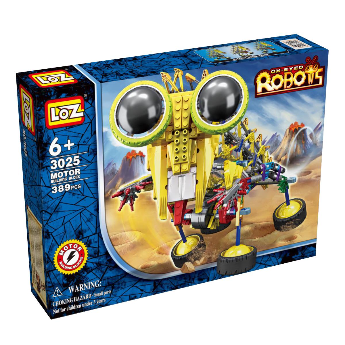 Loz Конструктор iRobot Шиношлеп3025Электромеханический конструктор iRobot. Серия: Роботы. Шиношлеп будет замечательным подарком для Вашего ребенка. С помощью моторчика робот уверенно передвигается. Такая игрушка хорошо влияет на развитие у ребенка мелкой моторики, логического мышления, внимательности и усидчивости. Конструкторы данной серии уникальны тем, что малыш может играть получившейся игрушкой. Для работы моторчика нужны две батарейки типа АА (в комплект не входят). В набор входит 389 деталей конструктора и подробная инструкция. Рекомендовано для детей от 6-ти лет.