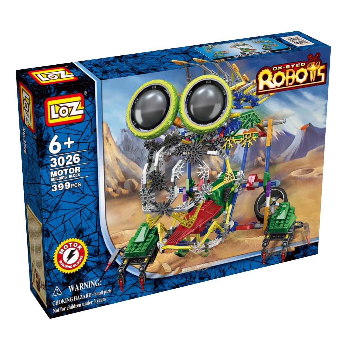 Loz Конструктор iRobot МегаЛап3026Электромеханический конструктор iRobot. Серия: Роботы. МегаЛап будет замечательным подарком для Вашего ребенка. С помощью моторчика робот уверенно передвигается. Такая игрушка хорошо влияет на развитие у ребенка мелкой моторики, логического мышления, внимательности и усидчивости. Конструкторы данной серии уникальны тем, что малыш может играть получившейся игрушкой. Для работы моторчика нужны две батарейки типа АА (в комплект не входят). В набор входит 399 деталей конструктора и подробная инструкция. Рекомендовано для детей от 6-ти лет.