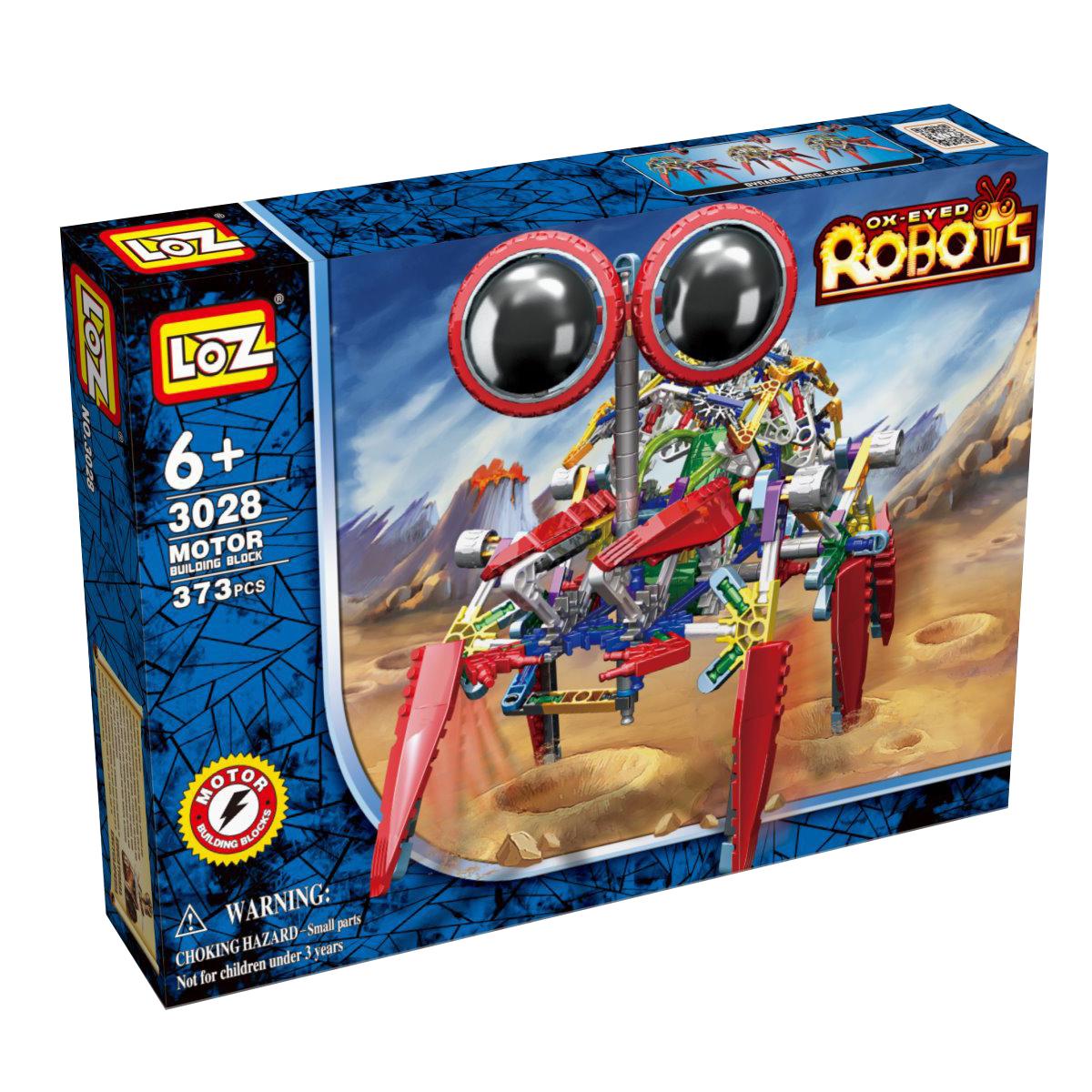 Loz Конструктор iRobot Крабс3028Электромеханический конструктор iRobot. Серия: Роботы. Крабс будет замечательным подарком для Вашего ребенка. С помощью моторчика робот уверенно передвигается. Такая игрушка хорошо влияет на развитие у ребенка мелкой моторики, логического мышления, внимательности и усидчивости. Конструкторы данной серии уникальны тем, что малыш может играть получившейся игрушкой. Для работы моторчика нужны две батарейки типа АА (в комплект не входят). В набор входит 373 деталей конструктора и подробная инструкция. Рекомендовано для детей от 6-ти лет.