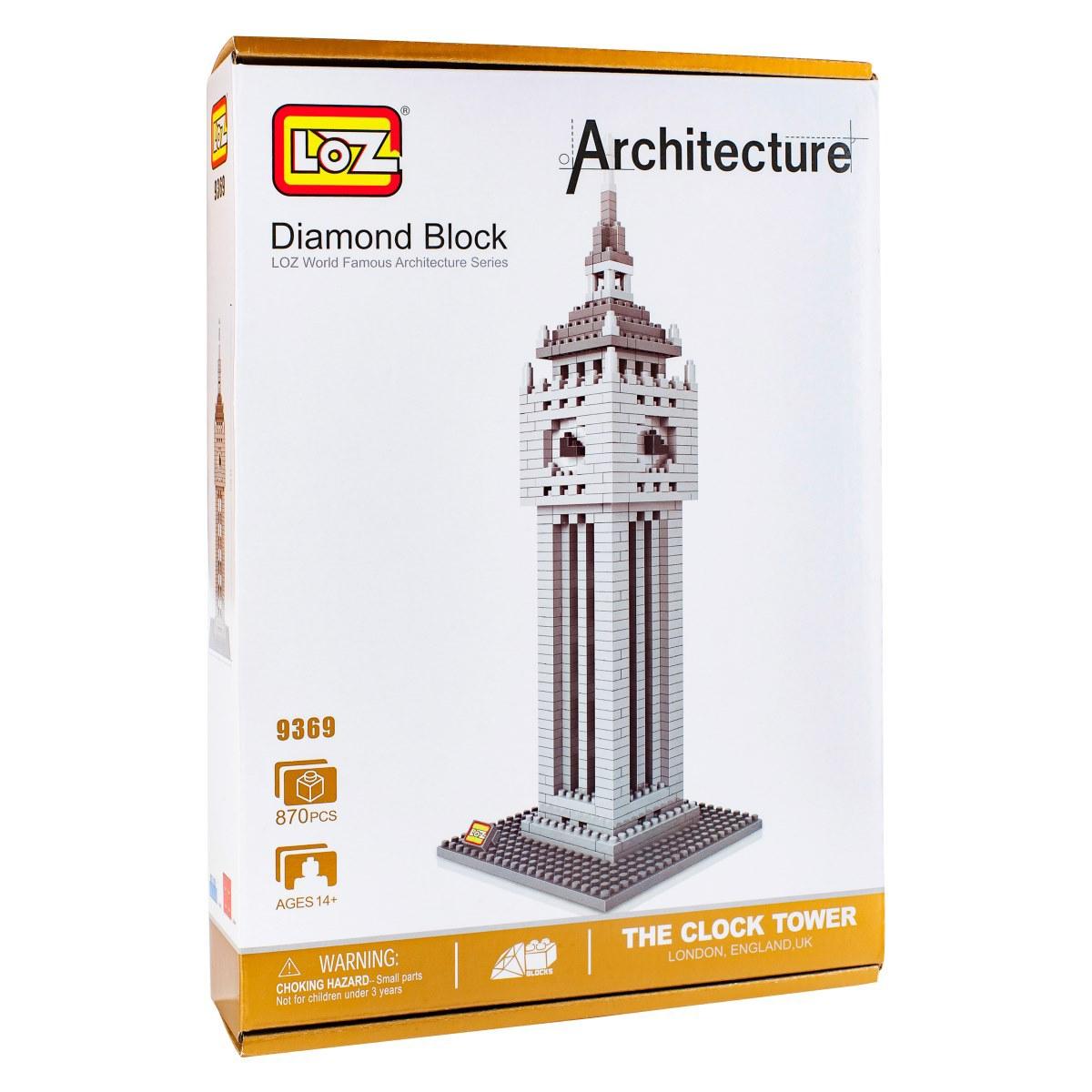Loz Конструктор Башня Биг Бен9369Конструктор Loz. Серия: Архитектура. Башня Биг Бен. Конструктор серии Архитектура собирается из модных в последнее время нано-блоков, что позволяет придать конечной модели максимально приближенный к оригиналу вид. Собирая башню, ребенок будет развивать внимательность, усидчивость, логику и пространственное воображение. А собранная модель станет отличном украшением детской. Для детей от 9 лет. В набор входит 870 деталей конструктора и подробная инструкция.
