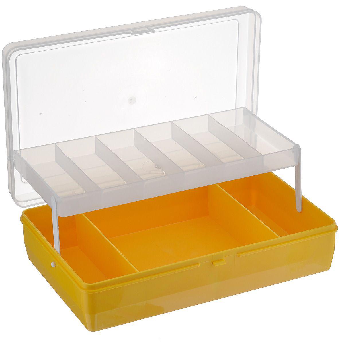 Коробка для хранения мелочей, двухярусная, с микролифтом, 23,5х15х6,5 см. #21-3-6525825