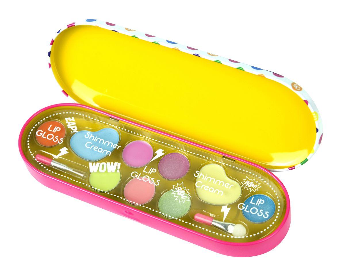 Markwins Игровой набор детской декоративной косметики Pop Girl3600151Детская декоративная косметика Markwins Pop Girl отлично подойдет юным модницам. Эта косметика легко смывается и не содержит вредных для нежной детской кожи веществ. Косметика для детей Markwins - это продукция очень высокого качества, даже по европейским меркам! В набор входят блески для губ, тени и кисть с аппликатором для нанесения косметики. С этой косметикой девочка сможет самостоятельно создать свой яркий образ! Детская косметика Markwins создана с соблюдением самых высоких европейских стандартов безопасности. Продукция не содержит парабенов, метилизотиазолинона, пальмового масла. Предназначена для детей от 7 лет. Несмотря на высокое качество продукции и ее общую гипоаллергенность, производитель рекомендует проверить индивидуальную реакцию на косметику перед ее использованием. Просто нанесите на кожу немного косметики и подержите 30-60 минут. Если на коже появится покраснение, следует прекратить использование продукции. Эта аллергическая реакция проявляется очень редко...