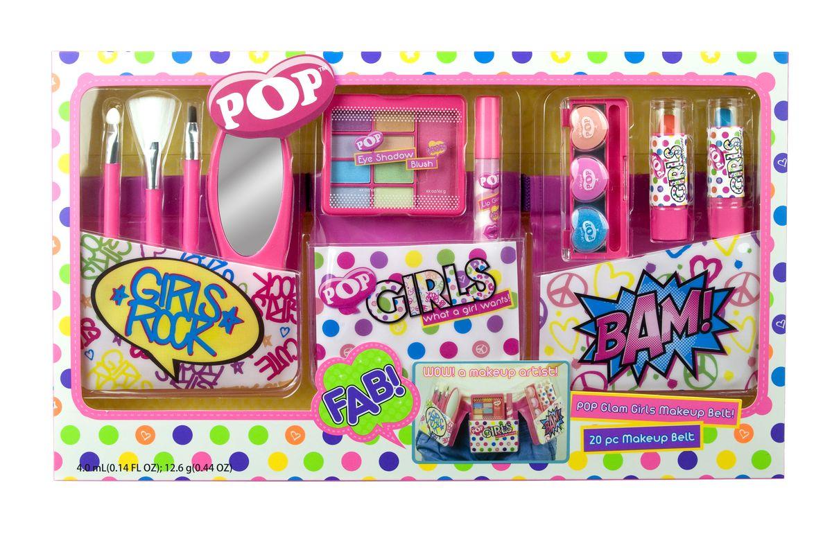 Markwins Игровой набор детской декоративной косметики Pop Girl с поясом визажиста3601051Набор декоративной косметики Markwins - отличный подарок для девочки! С ним ребенок сможет почувствовать себя настоящим визажистом, создавать яркие стильные образы. В набор входят тени, румяна, блески, помады, кисточки и аппликаторы, а также удобный пояс визажиста, который регулируется по обхвату талии. Детская косметика Markwins создана с соблюдением самых высоких европейских стандартов безопасности. Продукция не содержит парабенов, метилизотиазолинона, пальмового масла. Предназначена для детей от 7 лет. Несмотря на высокое качество продукции и ее общую гипоаллергенность, производитель рекомендует проверить индивидуальную реакцию на косметику перед ее использованием. Просто нанесите на кожу немного косметики и подержите 30-60 минут. Если на коже появится покраснение, следует прекратить использование продукции. Эта аллергическая реакция проявляется очень редко и зависит от индивидуальных особенностей организма. Условия хранения: хранить при температуре от +5 до +25...