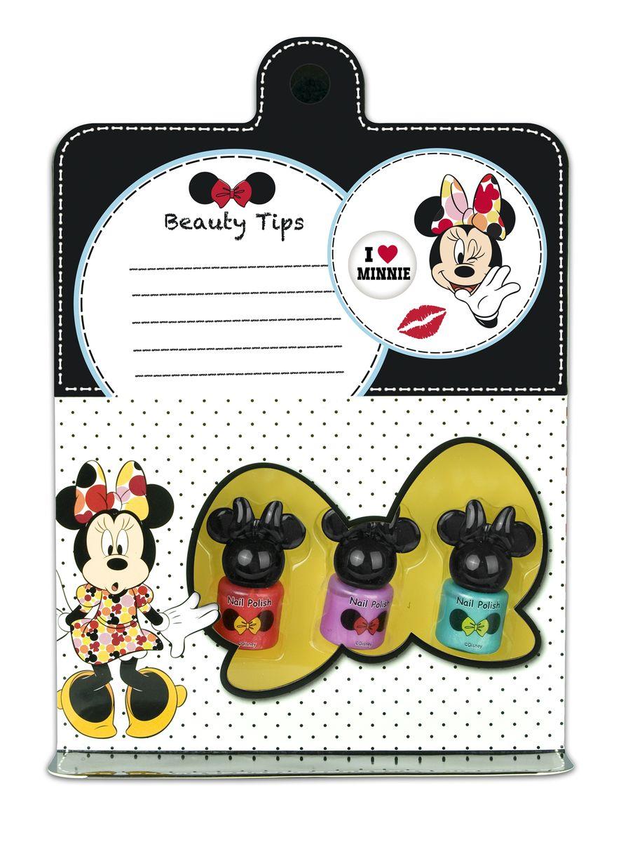 Markwins Игровой набор детской декоративной косметики для ногтей Minnie 96050519605051Состав набора: лаки на водной основе для ногтей 3 шт.