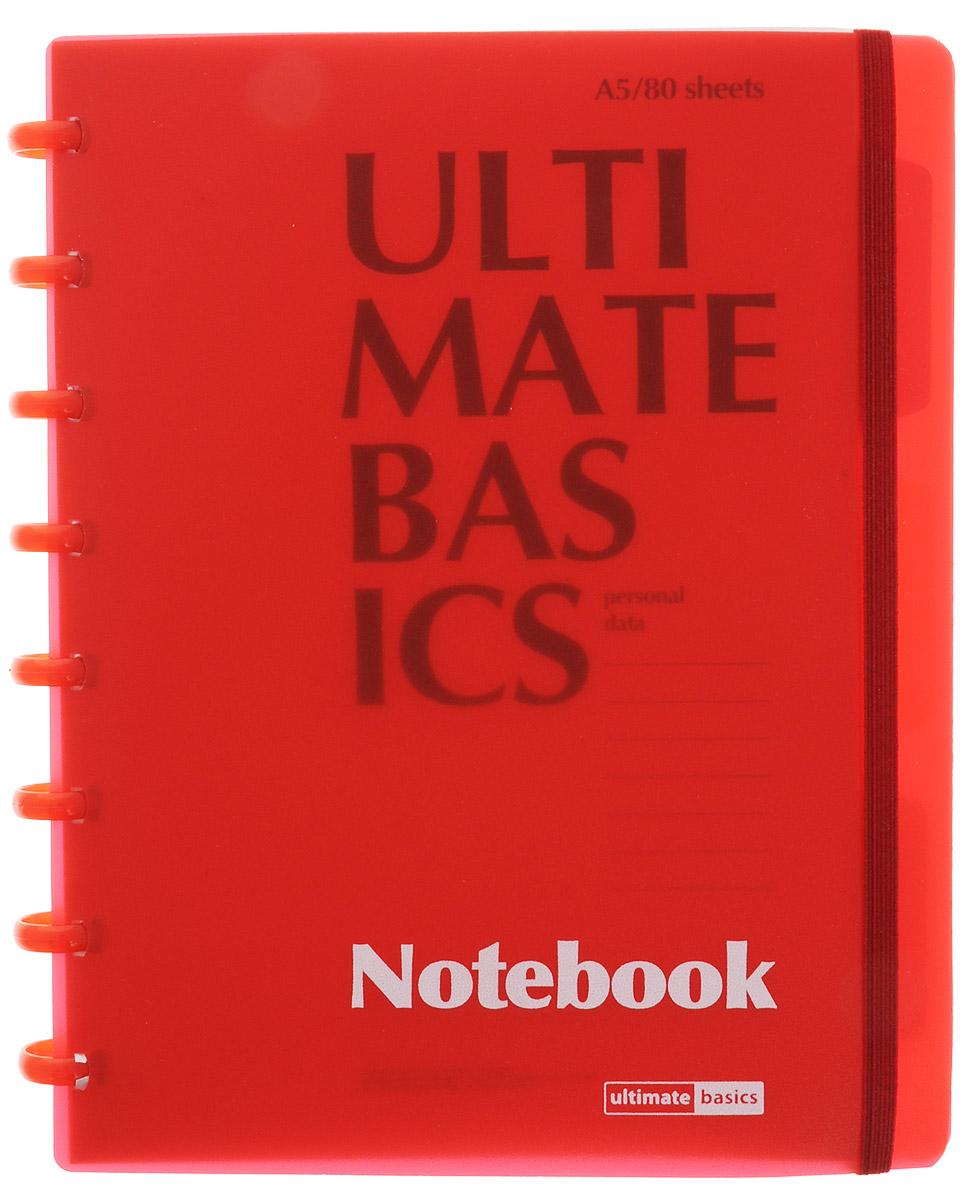 Альт Бизнес-блокнот Ultimate Basics 80 листов в клетку цвет красный 3-80-489_красный