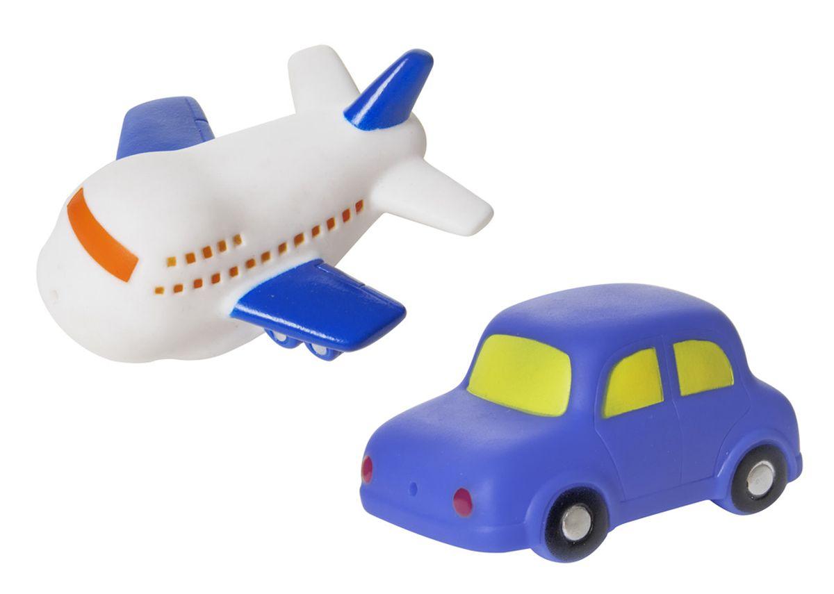 Курносики Набор игрушек для ванной Машинка и самолет25037Набор игрушек-брызгалок «Машинка и самолет» выполнен из мягкого безопасного материала, способен превратить обычное купание в веселую игру. В наборе две игрушки: машинка и самолет. Высота игрушек: 4 см. Размер игрушки (в/ш/г): машинка: 4,5*5*8 см. самолетик: 4*7,5*8 см.