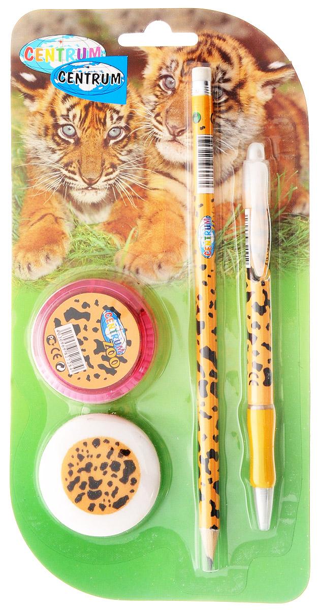 Centrum Канцелярский набор Zoo цвет оранжевый черный 4 предмета