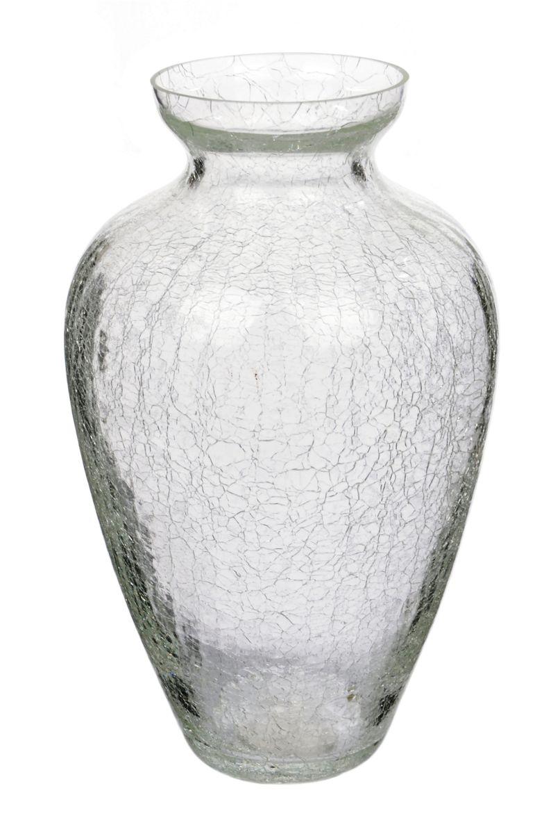 Ваза Nina Glass Амбрэ, кракелюр, прозрачныйNG90-025-255PKПосуду нельзя использовать в СВЧ и мыть в ПММ.