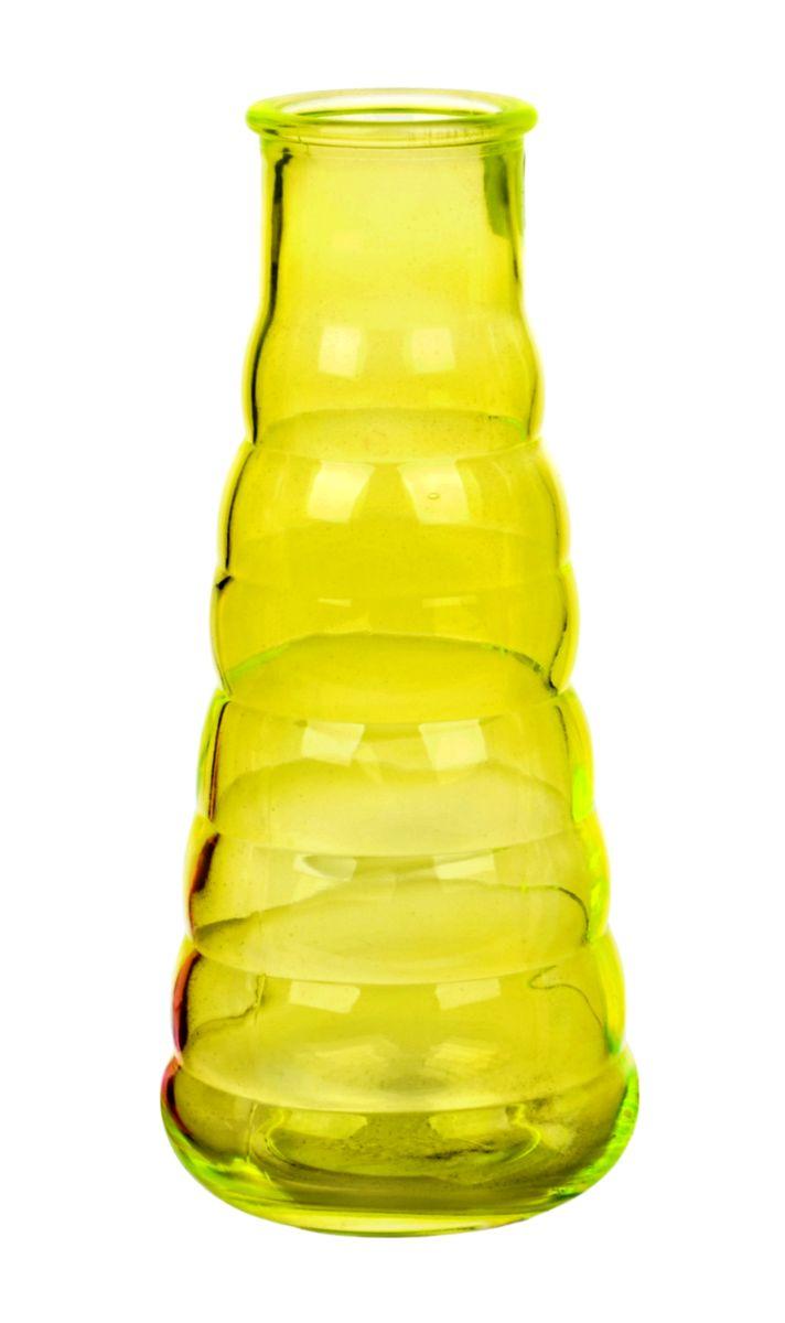 Ваза Nina Glass Грация, цвет: желтый, высота 21 смNG92-044M_желтыйВаза Nina Glass Грация выполнена из высококачественного стекла. Изделие имеет изысканный внешний вид и рельефную поверхность. Такая ваза станет ярким украшением интерьера и прекрасным подарком к любому случаю. Не рекомендуется мыть в посудомоечной машине. Высота вазы: 21 см.