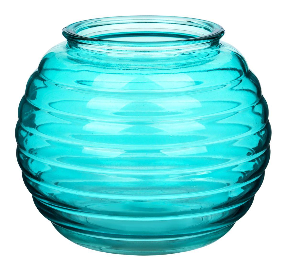 Ваза Nina Glass Зара, цвет: лазурныйNG92-006_лазурныйПосуду нельзя использовать в СВЧ и мыть в ПММ.