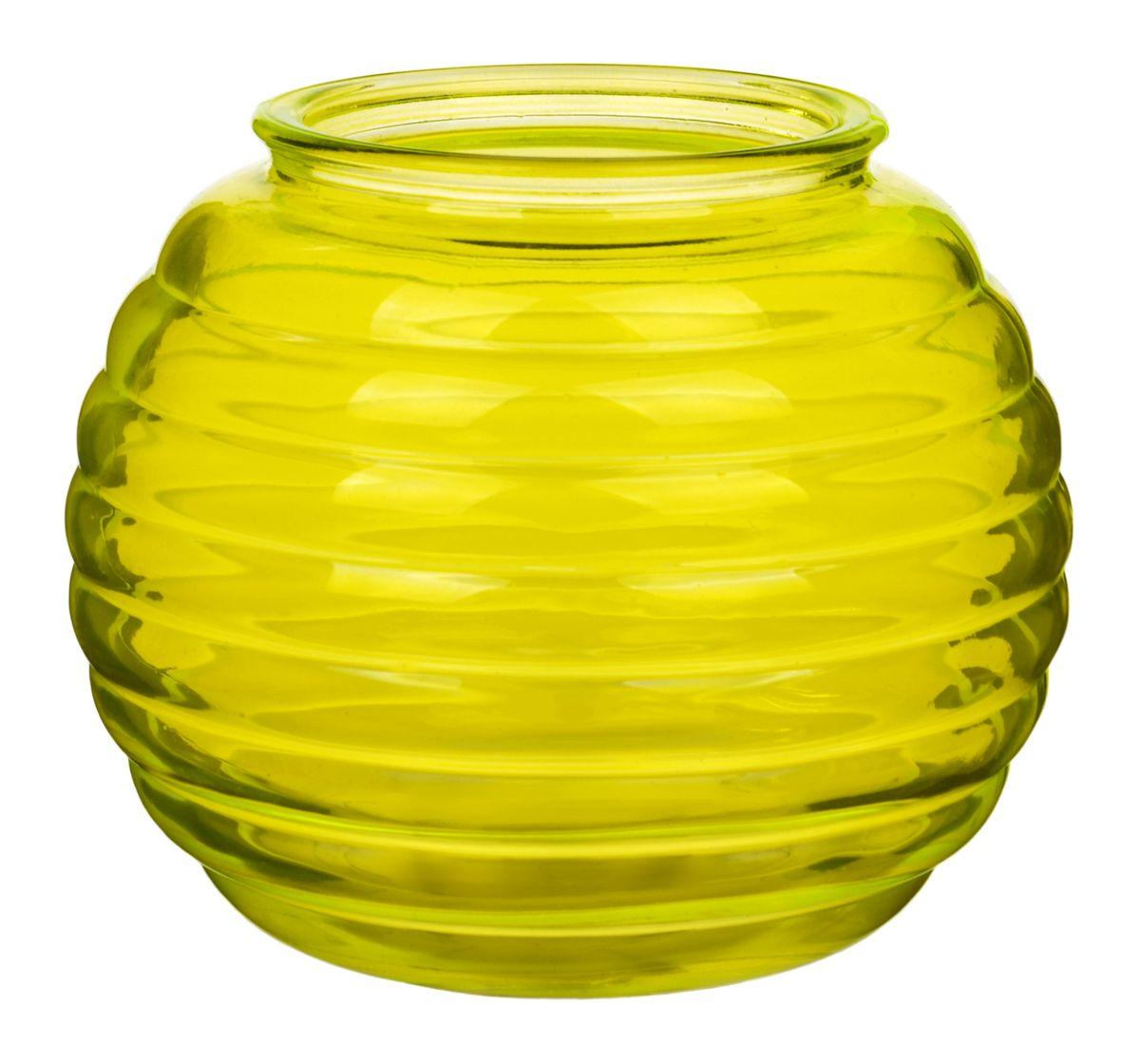 Ваза Nina Glass Зара, цвет: желтыйNG92-006_желтыйПосуду нельзя использовать в СВЧ и мыть в ПММ.