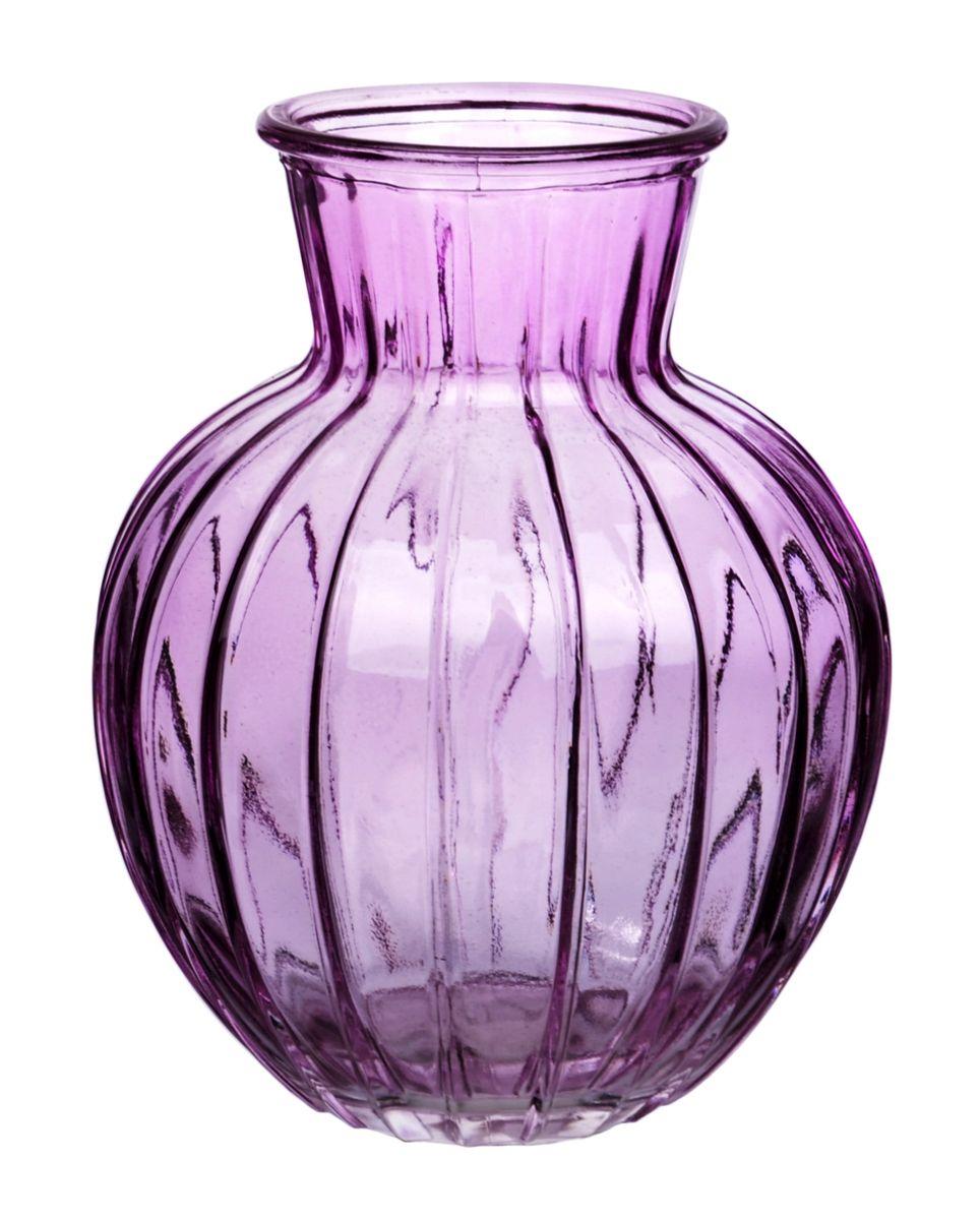 Ваза Nina Glass Белла, цвет: сиреневый, высота 19,5 смNG92-001M_сиреневыйВаза Nina Glass Белла выполнена из высококачественного стекла и имеет изысканный внешний вид. Такая ваза станет ярким украшением интерьера и прекрасным подарком к любому случаю. Не рекомендуется мыть в посудомоечной машине. Высота вазы: 19,5 см.