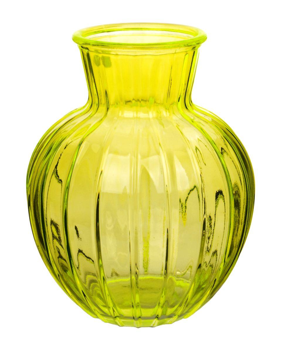 Ваза Nina Glass Белла, цвет: желтый, высота 19,5 смNG92-001M_желтыйВаза Nina Glass Белла выполнена из высококачественного стекла и имеет изысканный внешний вид. Такая ваза станет ярким украшением интерьера и прекрасным подарком к любому случаю. Не рекомендуется мыть в посудомоечной машине. Высота вазы: 19,5 см.