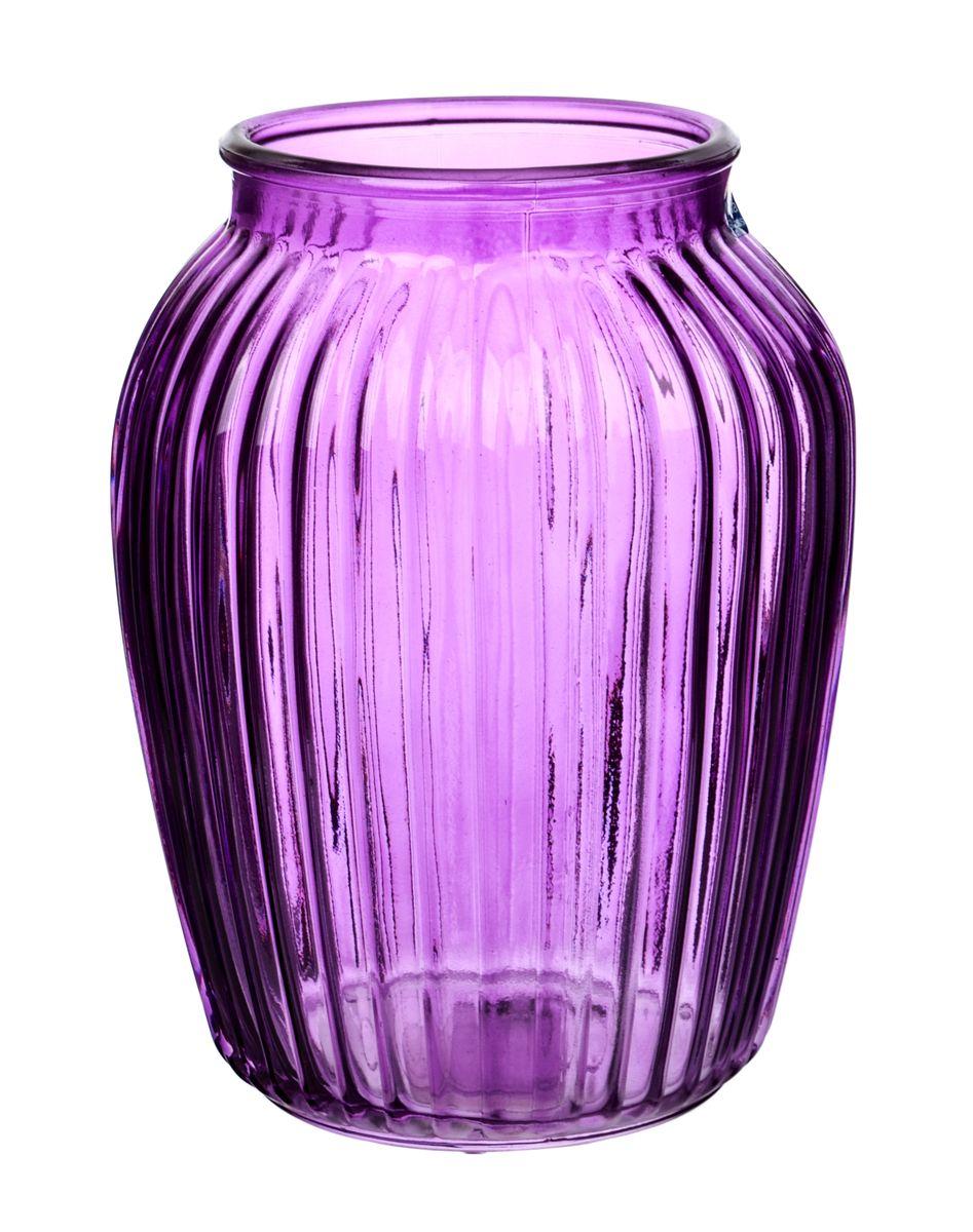 Ваза Nina Glass Луана, цвет: сиреневый, высота 19,5 смNG92-021M_сиреневыйВаза Nina Glass Луана выполнена из высококачественного стекла и имеет изысканный внешний вид. Такая ваза станет ярким украшением интерьера и прекрасным подарком к любому случаю. Не рекомендуется мыть в посудомоечной машине. Высота вазы: 19,5 см.