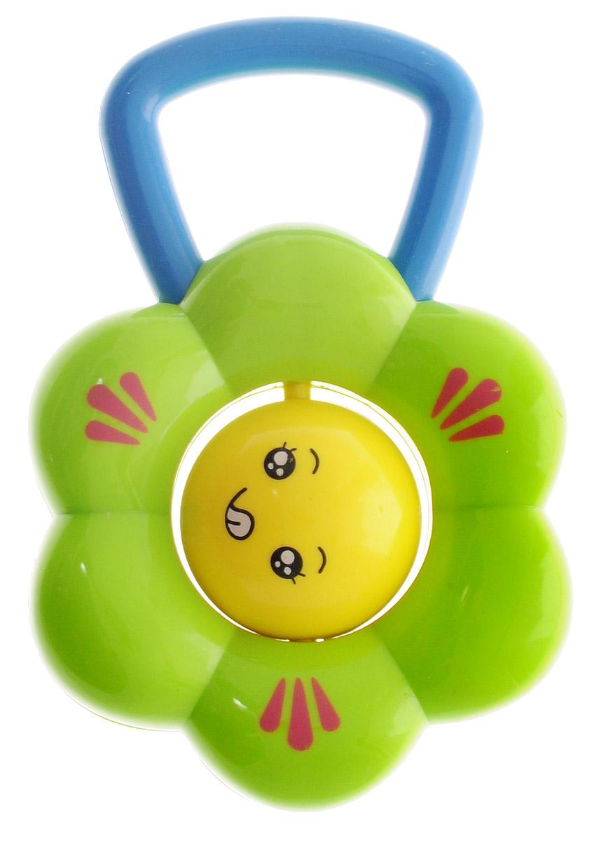 Shantou Погремушка Цветок зеленыйT99-D556_зеленыйПогремушка Shantou Цветок вызовет улыбку и положительные эмоции у вашего малыша. Погремушка выполнена в виде цветочка с зелеными пластиковыми лепестками, серединка цветка крутится вокруг своей оси. Ручка очень удобна для захвата маленькими детскими пальчиками, поэтому при помощи этой игрушки малыша будет легко научить удерживать предметы. Погремушка выполнена из высококачественного и безопасного пластика. В игровой форме малыш ознакомится с такими понятиями, как звук, цвет и форма предметов.