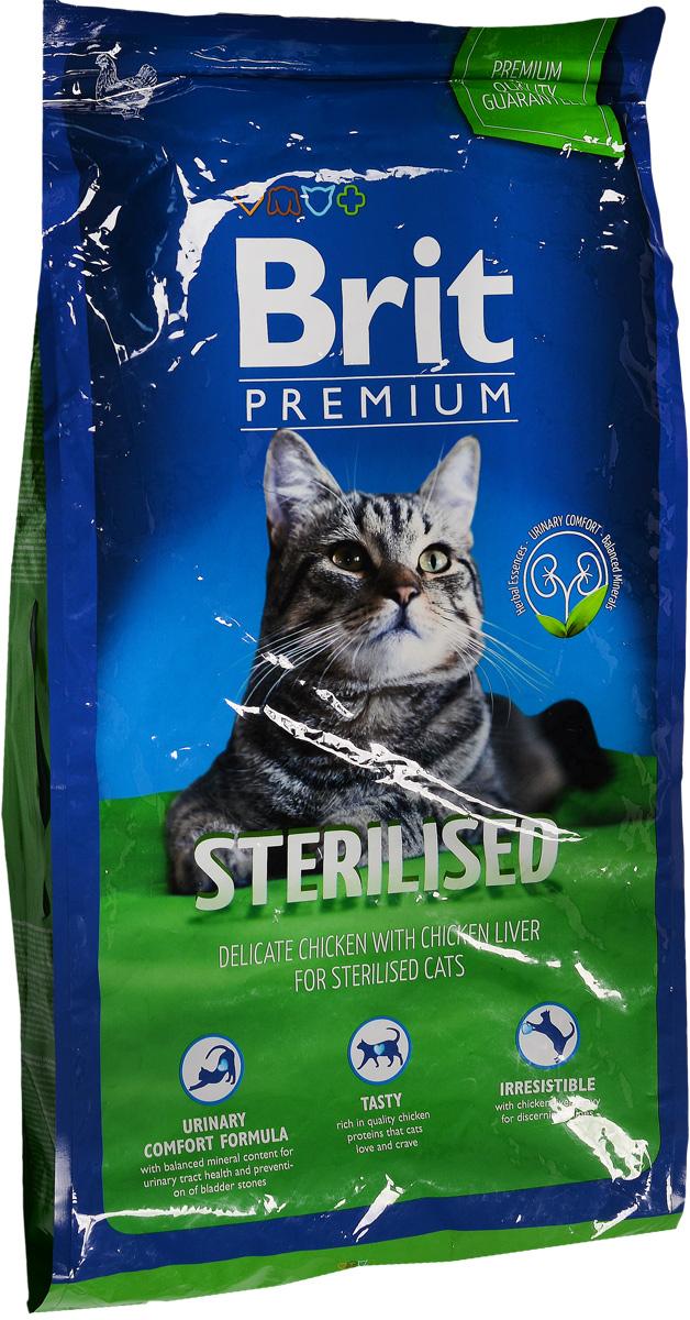 Корм сухой Brit Premium для стерилизованных кошек и кастрированных котов, 8 кг8594031445333Сбалансированный полнорационный корм Brit Premium предназначен для стерилизованных кошек и кастрированных котов. Основные достоинства: - Не содержит пшеницы, что максимально снижает пищевую аллергию. - Содержит пребиотики MOS и FOS, способствуя повышению иммунитета и поддержанию здоровой микрофлоры кишечника. - Содержит органический селен и витамин Е - факторы замедляющие процессы старения. Товар сертифицирован.