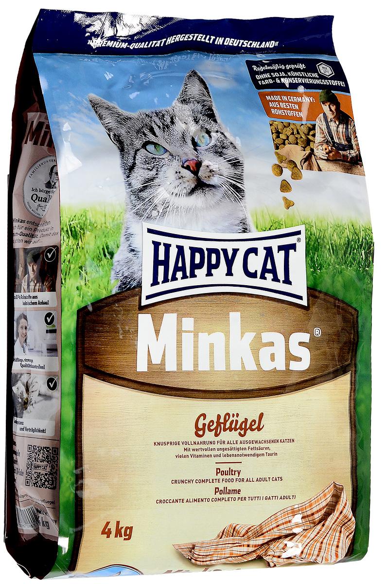 Корм сухой Happy Cat Minkas для взрослых кошек, с птицей, 4 кг70045Корм для кошек Happy Cat Minkas - это полноценный базовый корм для взрослых кошек. Благодаря ценным белкам из мяса птицы, отсутствию сои и высококачественным хрустящим злаковым составляющим, этот продукт нравится кошкам и легко усваивается. Корм не содержит вредных веществ. Порадуйте своего питомца качественной и питательной пищей. Товар сертифицирован.