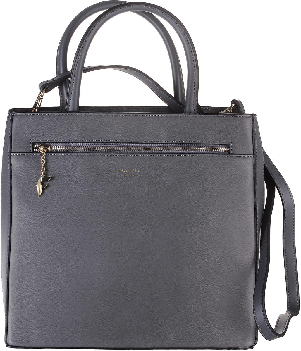 Сумка женская Fiorelli, цвет: серый. 8513 FH8513 FH City GreyСтильная женская сумка Fiorelli выполнена из искусственной кожи, дополнена золотистой фурнитурой и подвеской в виде символики бренда. Изделие имеет вместительное отделение, закрывающееся хлястиком на магнитную застежку. Внутри имеется прорезной карман на застежке- молнии и четыре открытых пришивных кармана для телефона и мелочей. Снаружи на задней стенке располагается прорезной карман на молнии. Сумка оснащена съемным плечевым ремнем, который регулируется по длине. В комплекте идет стильный кошелек, выполненный также из экокожи, который может использоваться в качестве самостоятельного аксессуара. Дизайн продукции Fiorelli разрабатывается в Лондоне молодой, амбициозной командой, идущей в ногу со временем и предлагающей модели, которые предназначены для любых случаев, как для выхода в свет, так и для рабочих будней, торжественных приемов или коктейльных вечеринок.