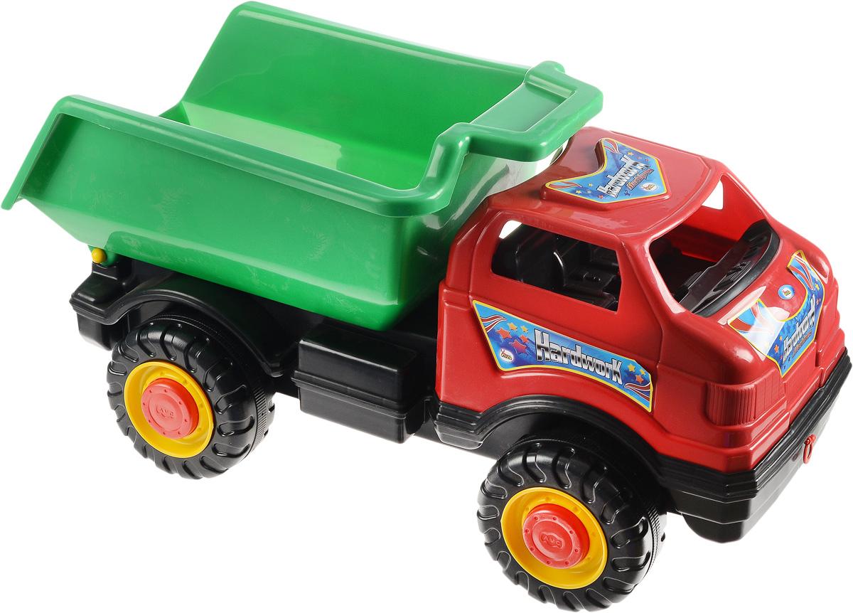 AVC Супергрузовик цвет красный зеленый01/5151Игрушка AVC Супергрузовик отлично подойдет ребенку для различных игр. Это большая машинка, которая предназначена для самых маленьких - в конструкции отсутствуют острые элементы, способные травмировать малыша. Вместительный кузов машинки поднимается и опускается. В кабину без стекол можно посадить одну или несколько игрушек. Большие пластиковые колеса с крупным протектором обеспечивают машинке устойчивость и хорошую проходимость. Игрушка является оптимальным вариантом для перевозки различных грузов (камушки, палочки, песок, игрушки и т.д.). Грузовик выполнен из прочного пластика, который позволяет выдерживать большие нагрузки. Ваш юный строитель сможет прекрасно провести время дома или на улице, подвозя к месту игрушечной стройки необходимые предметы на этом ярком грузовике.
