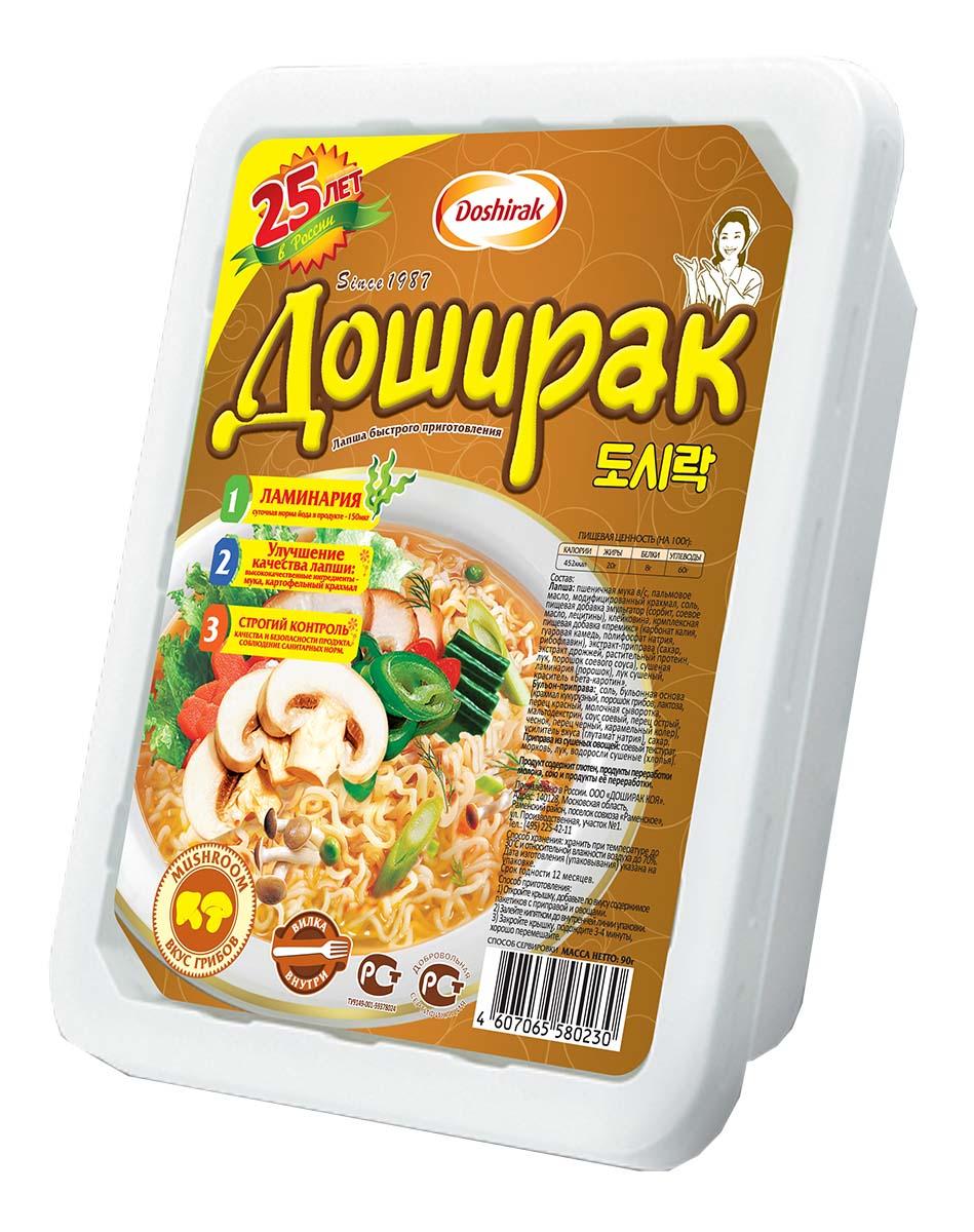 Doshirak лапша быстрого приготовления со вкусом грибов, 90 г4607065580230Лапша быстрого приготовления, залить кипятком
