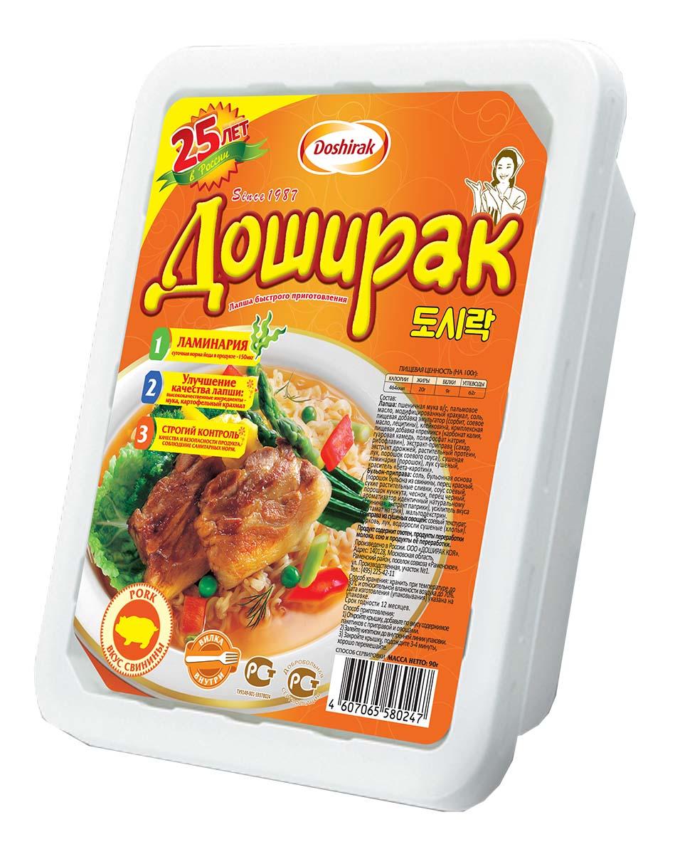Doshirak лапша быстрого приготовления со вкусом свинины, 90 г