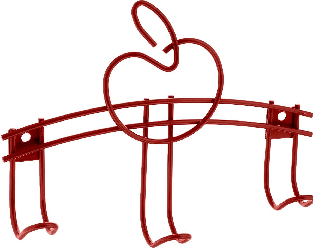 Вешалка детская Sheffilton Яблочко 3, цвет: красный, 3 крючка, 24 см х 5 см х 19 смB2-75Вешалка Sheffilton Яблочко 3 является не только функциональным элементом, но и прекрасно украсит интерьер детской комнаты. Каркас вешалки изготовлен из металла с порошковой окраской, стойкой к механическим повреждениям. Вешалка Sheffilton Яблочко 3 имеет три крючка, на которые малыш сможет самостоятельно повесить одежду, сумочку или игрушки. максимальная нагрузка на крючок: 7 кг.