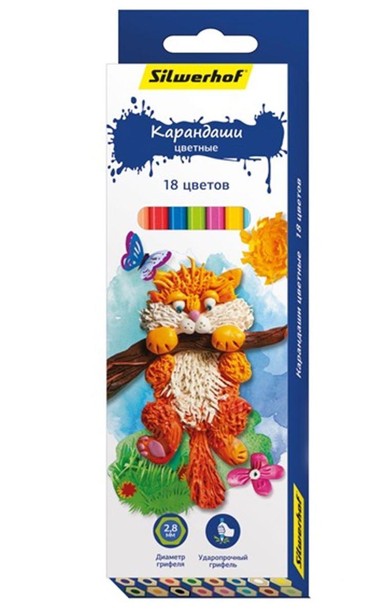 Silwerhof Карандаши цветные Пластилиновая коллекция 18 цветов134195-18Карандаши Silwerhof Пластилиновая коллекция станут хорошим подарком для маленьких начинающих художников. Шестигранный корпус изготовлен из натурального дерева. Благодаря специальной обработке, многослойной прокраске и лакировке, карандаши легко затачиваются, и их приятно держать в руках. Карандаши поставляются заточенными. В наборе 18 карандашей ярких, насыщенных цветов.