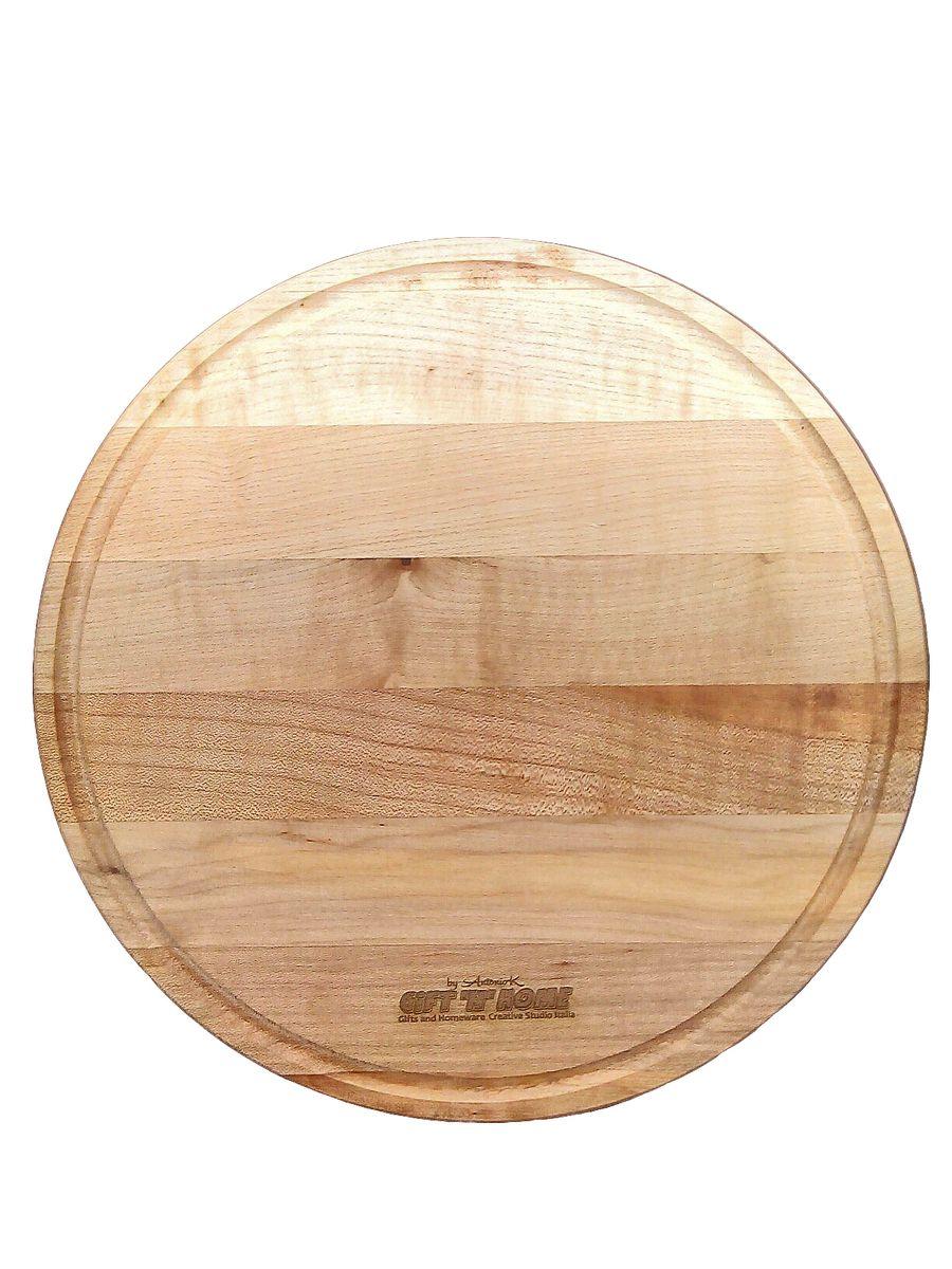 Доска для пиццы GiftnHome, диаметр 25 смW-PizzaДоска для пиццы GiftnHome изготовлена из цельного бука. Буковые изделия обязательно покрываются льняным натуральным маслом. Спустя 3-5 дней оно становится единой с деревом структурой, делает его твердым и устойчивым, не оставляя масляных следов, и годами защищает древесину от высыхания (окисления), перепадов температур, а также от неблагоприятного взаимодействия с водной средой. Доска предназначена для нарезки продуктов, по краю снабжена желобом для стока жидкости. Благодаря своей круглой форме идеальна для нарезки и сервировки пиццы. Такая доска станет отличным приобретением для вашей кухни.