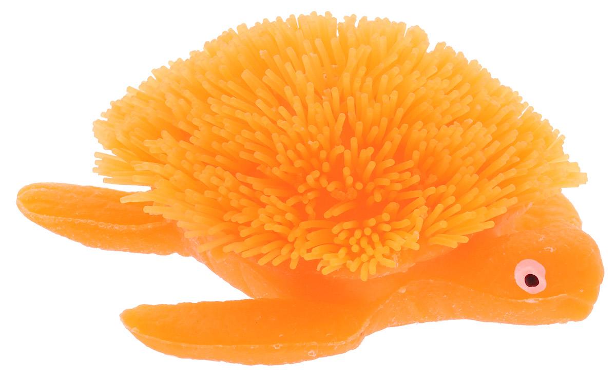 HGL Фигурка Черепаха с подсветкой цвет оранжевыйSV11193Фигурка Черепаха - это мягкая резиновая игрушка в виде оранжевой морской черепашки с резиновым ворсом. Взяв игрушку в руки, расстаться с ней просто невозможно! Её не только приятно держать в руках: если перекинуть игрушку из руки в руку, она начнёт мигать цветными огоньками. Данная игрушка рассчитана на широкую целевую аудиторию - как детей от пяти лет, так и взрослых. Черепаха обязательно станет вашим самым любимым забавным сувениром. Игрушка работает от незаменяемых батареек.