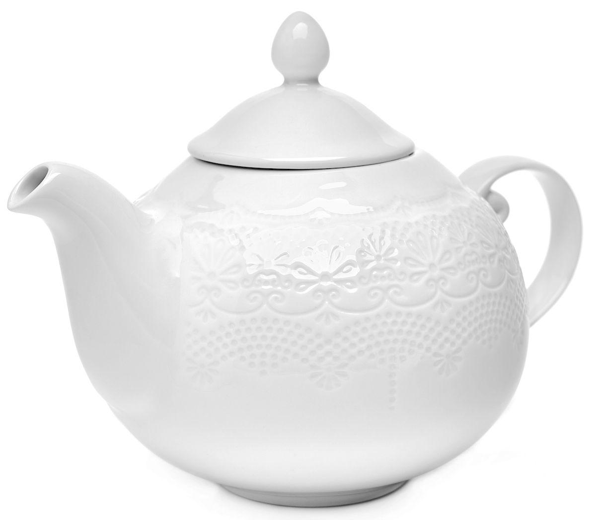 Чайник заварочный Walmer Emily, 1 лW07680100Заварочный чайник Walmer Emily изготовлен из высококачественного фарфора. Изделие прекрасно подходит для заваривания вкусного и ароматного чая, травяных настоев. Оригинальный дизайн сделает чайник настоящим украшением стола. Он удобен в использовании и понравится каждому. Высота чайника (без учета крышки): 14,5 см.