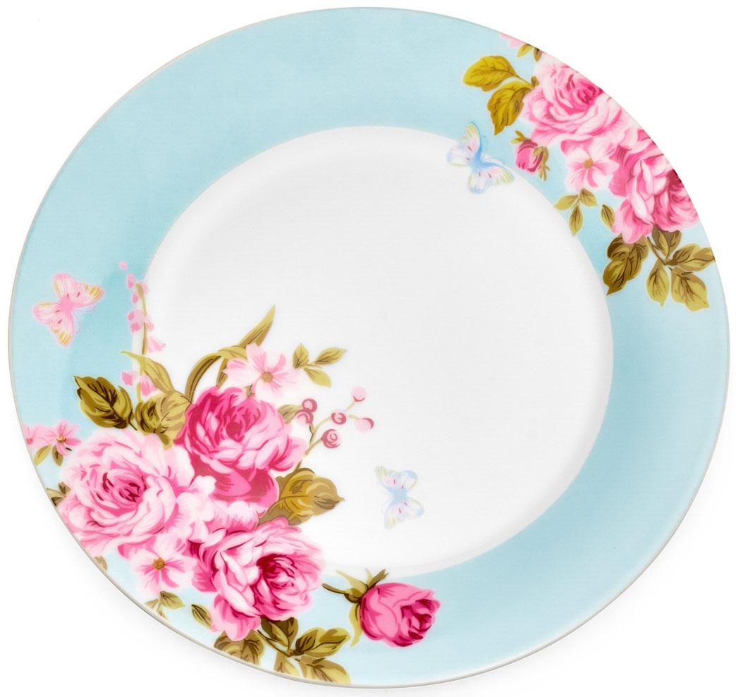 Тарелка десертная Walmer Mirabella, цвет: голубой, диаметр 19 смW19730019Десертная тарелка Walmer Mirabella изготовлена из экологически чистого фарфора. Изделие оформлено цветочным орнаментом. Такая тарелка прекрасно подходит как для торжественных случаев, так и для повседневного использования. Идеальна для подачи десертов, пирожных, тортов. Она прекрасно оформит стол и станет отличным дополнением к вашей коллекции кухонной посуды. Можно использовать в посудомоечной машине и СВЧ. Диаметр (по верхнему краю): 19 см. Высота стенки: 2 см.
