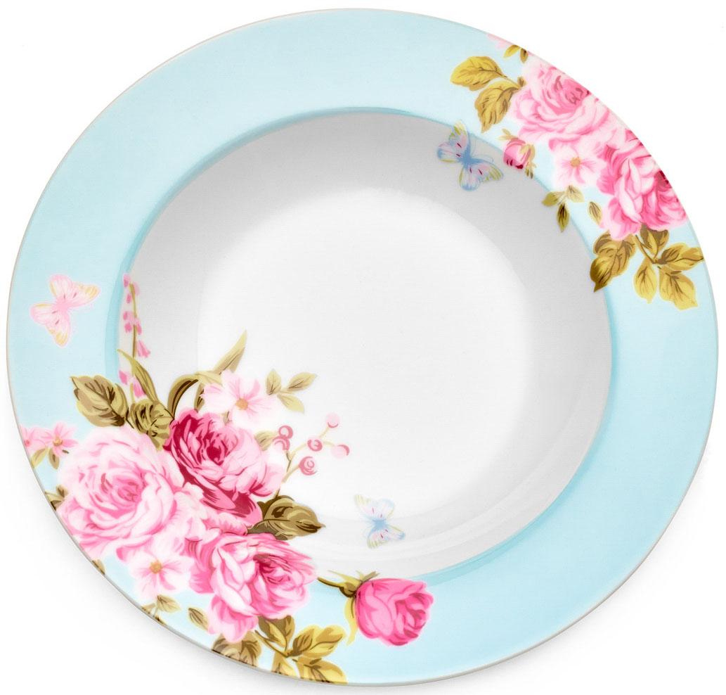 Тарелка суповая Walmer Mirabella, цвет: голубой, диаметр 21,5 смW19730021Суповая тарелка Walmer Mirabella изготовлена из экологически чистого фарфора. Изделие оформлено цветочным орнаментом. Такая тарелка прекрасно подходит как для торжественных случаев, так и для повседневного использования. Можно использовать в посудомоечной машине и СВЧ. Диаметр (по верхнему краю): 21,5 см. Высота стенки: 3,5 см.
