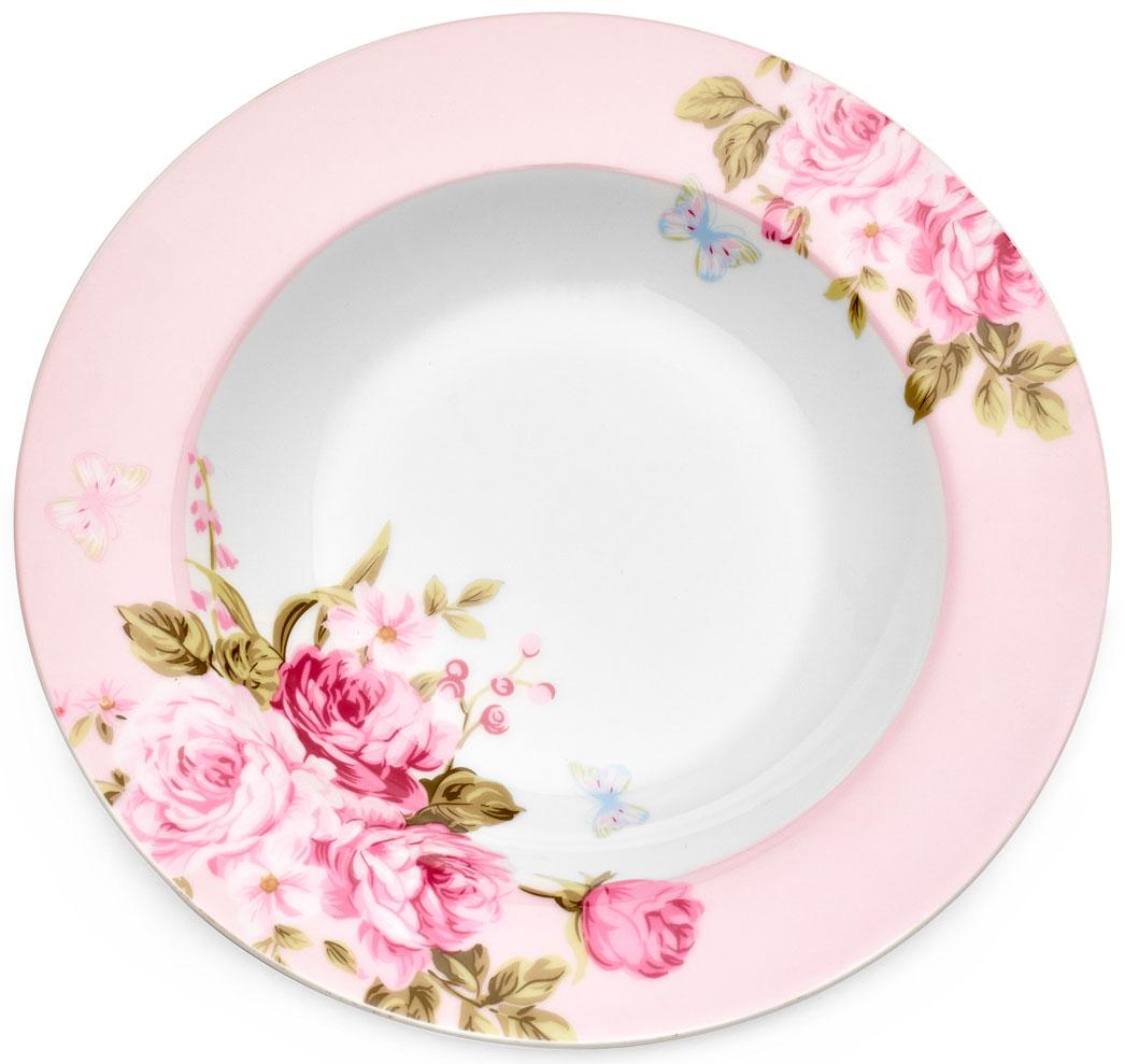 Тарелка суповая Walmer Mirabella Pink, 21,5 см. W19830021W19830021