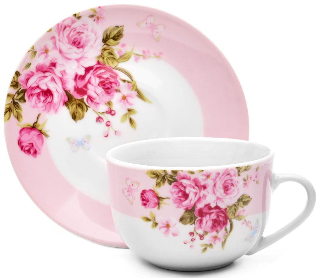 Чайная пара Walmer Mirabella Pink, 220 мл. W19870022W19870022
