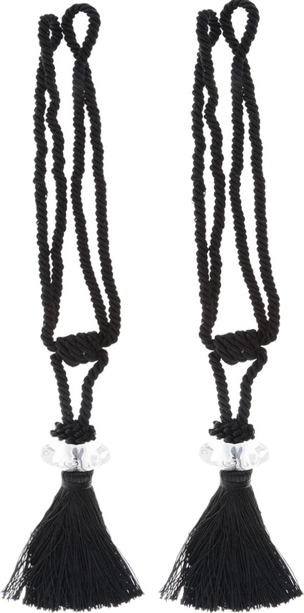 Подхват для штор Мир Мануфактуры, цвет: черный, длина 45 см, 2 шт546236_13 черныйПодхват для штор Мир Мануфактуры выполнен из высококачественной вискозы и представляет собой кисть на витом шнуре с декоративной бусиной. Подхват - это основной вид фурнитуры в декоре штор, сочетающий в себе не только декоративную функцию, но и практическую - регулировать поток света. Подхваты способны украсить любую комнату. Длина кисти с подхватом: 45 см. Длина кисти: 19 см.