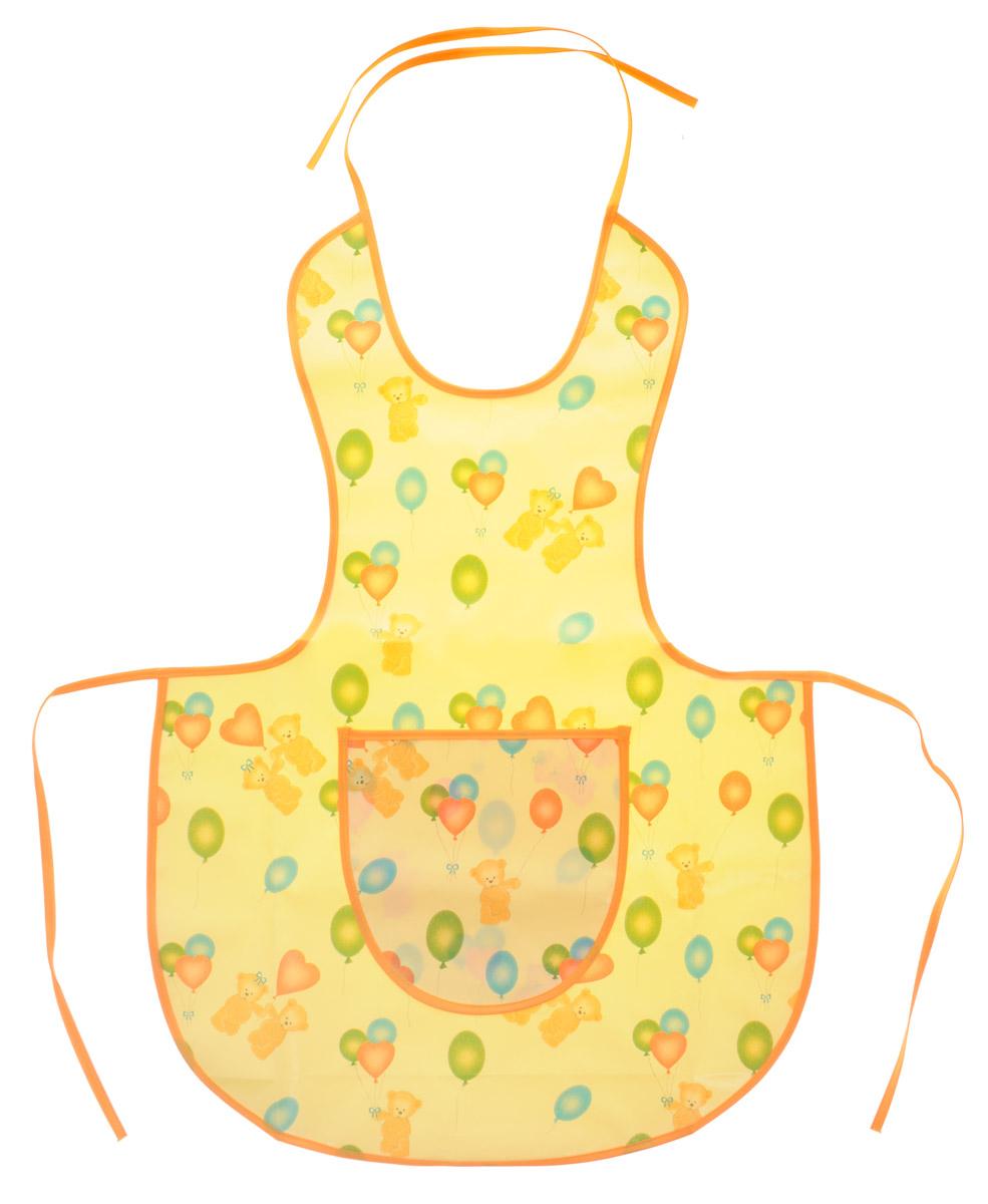 Колорит Фартук защитный цвет желтый оранжевый 64 см х 44 см