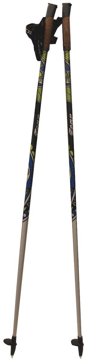 Палки для скандинавской ходьбы Cober Tear Green Oval, цвет: черный, желтый, синий, длина 105 см378Палки для скандинавской ходьбы. Материал: сплав алюминия 7075 T6. Рукоятка: пробка. Темляк: анатомический, регулируемый. Сапожок-толкатель в комплекте Вес 200г