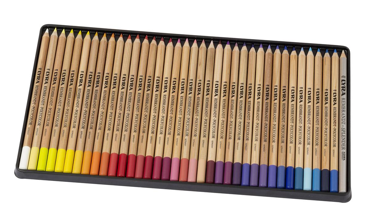 Lyra Художественные цветные карандаши Rembrandt Polycolor 72 цветаL2001720Набор цветных художественных карандашей Lyra REMBRANDT POLYCOLOR 72 цвета, в металлической коробке