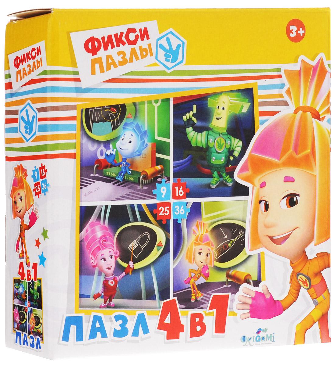 Оригами Пазл для малышей Фиксики 4 в 1 1255012550Красочный пазл Оригами Фиксики 4 в 1 - наилучшее решение для развития вашего малыша. Собирая картинку из отдельных элементов, малыш учится соотносить отдельные фрагменты в целое изображение, подбирать элементы по цвету и форме. Пазл поможет развить у малыша мелкую моторику рук, цветовосприятие, воображение и логическое мышление, научит видеть большое в малом. Вознаграждением за усердие будет красивая картинка.