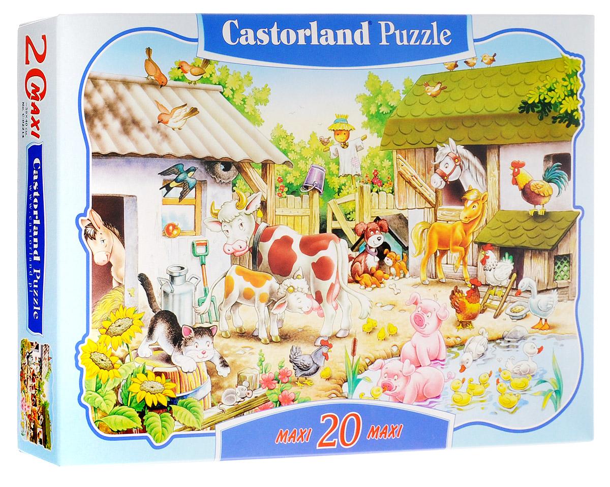 Castorland Пазл ФермаС-02214Пазлы Castorland - это высокий уровень полиграфии, четкие и красочные цвета, продуманные иллюстрации, уникальность формы каждой детали, разнообразие тематик. Пазл Castorland Ферма станет отличным развлечением для вашего ребенка. Собрав этот пазл, включающий в себя 20 элементов, вы получите великолепную картинку с изображением очаровательных домашних животных на ферме. Игра с пазлами благоприятно влияет на развитие ребенка. Веселая игра сопровождается манипуляциями с мелкими предметами, сопоставлением и сложением деталей, в результате чего развивается сенсорное восприятие и мелкая моторика. Порадуйте своего малыша таким замечательным подарком!