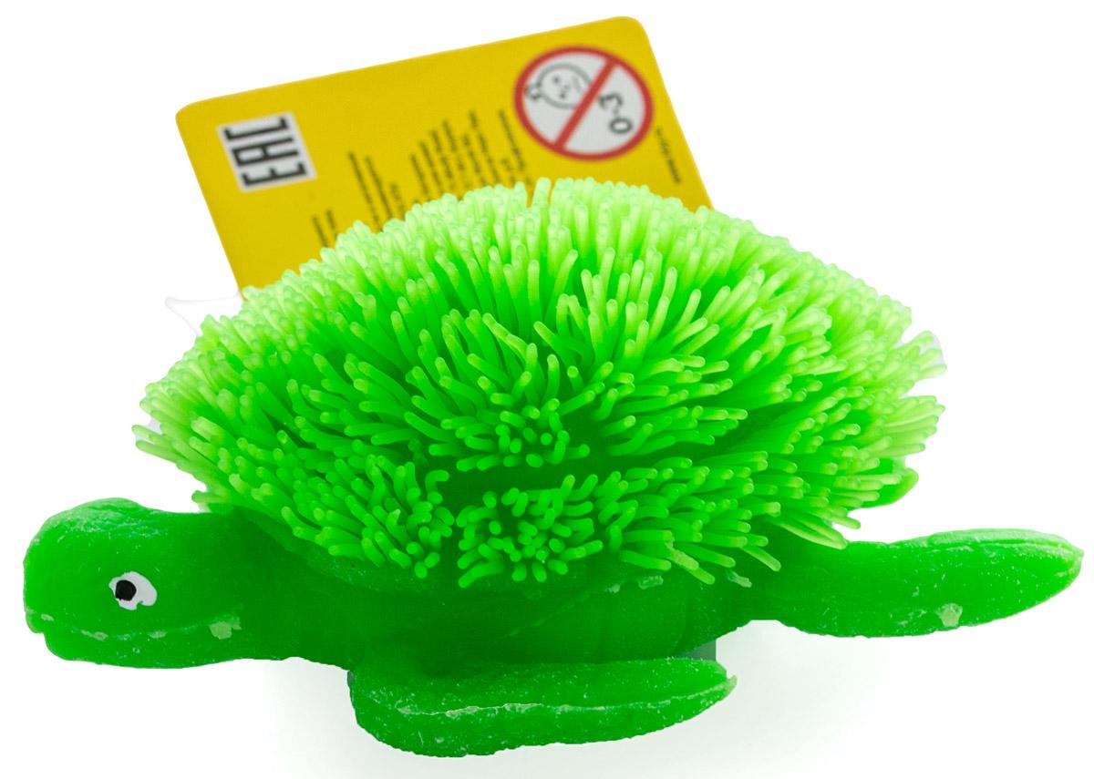 HGL Фигурка Черепаха с подсветкой цвет зеленыйSV11193_зеленыйОчаровательная и невероятно яркая черепашка станет отличным презентом для ребенка. Внутри игрушки находится плотный шарик со встроенными светодиодами. Подсветка включается при ударе игрушки о твердую поверхность, мигает разными цветами в течение некоторого времени. Игрушку можно мять и растягивать, совершенствуя тактильные навыки и ощущения у деток, а взрослые могут использовать эту замечательную черепашку в качестве игрушки-антистресса. Фигурка HGL Черепаха выполнена из качественных и безопасных материалов. Работает от незаменяемых батареек.