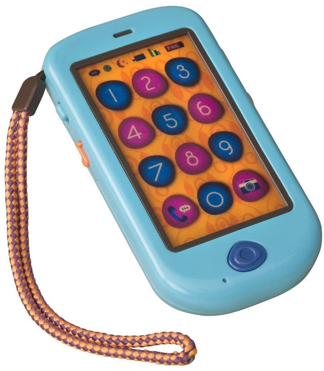 B.Dot Интерактивная игрушка Смартфон68681Смартфон B.Dot - это игрушечный телефон намного лучше, чем настоящий для детей от 18 месяцев. Многие мамы и папы захотят себе такой же. Сенсорный экран учит запоминать цифры, произнося их при нажатии на кнопки от 1 до 9. Есть запись и воспроизведение. Родители могут записать сообщения для детей, а они их потом прослушают. Нажав на кнопку слева, смартфон начнет воспроизводить 4 разные мелодии, как в настоящем телефоне. Через 8 секунд молчания, телефон может перезванивает вам. Все элементы игрушки выполнены из прочного пластика. Для работы потребуются 3 батарейки типа AAA(в комплект входят). Телефон озвучен на английском языке.