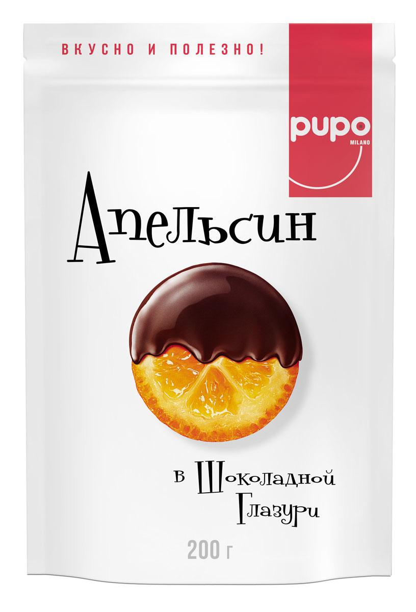 PUPO Апельсин в глазури конфеты глазированные, 200 г14.3035Фортунелла — это маленькие апельсины, которые называют в Японии и Китае «золотыми». Они растут на плантациях Юго-Восточной Азии и проходят сушку естественным, экологичным образом под лучами солнца. Вяленые ароматные плоды Фортунелла в сладкой глазури — это богатый витаминами и минералами десерт, который имеет пикантный пряный вкус, тонизирует и укрепляет иммунитет. Фортунелла — источник энергии и хорошего настроения