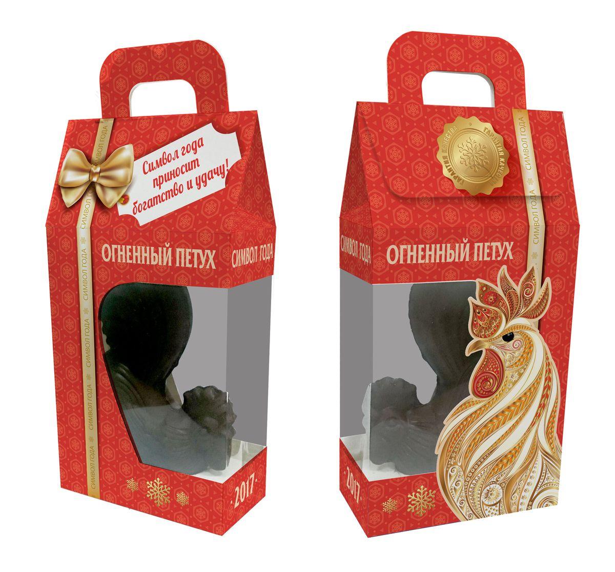 Сладкая Сказка Огненный петух шоколадная фигурка в подарочной коробке, 80 гMK-92Элитный подарок для детей и взрослых, с детальной прорисовкой фигурки