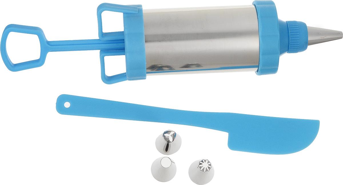 Шприц кондитерский TravolaSL-BHH003Кондитерский шприц Travola, изготовленный из нержавеющей стали и пластика, предназначен для выдавливания разных кремов, в основном служащих для украшения кондитерских изделий. К шприцу прилагаются пластиковый нож и 3 разные насадки. Кондитерский шприц - превосходный инструмент, который облегчает и ускоряет процесс выпечки печенья, бисквитов, пряников и многого другого, идеален для украшения десертов и пирогов сливками или заварным кремом, для заполнения пончиков джемом, а также для украшения бутербродов, тостов и канапе паштетом, маслом, плавленым сыром. Праздничный стол требует особого внимания! Благодаря удивительному помощнику - кондитерскому шприцу вы быстро и легко приготовите выпечку любой формы, какой только пожелаете. Количество насадок: 3 шт. Длина шприца: 20,5 см. Длина пластикового ножа: 18 см. * Победитель номинации «Лучшая собственная торговая марка в сегменте ONLINE» Премия PRIVATE LABEL AWARDS (by IPLS)...