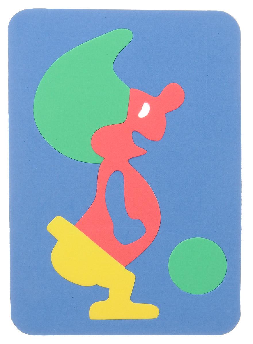 Бомик Пазл для малышей Гном цвет основы синий107_синий/зеленый/красный/желтыйПазл для малышей Бомик Гном выполнен из мягкого полимера, поэтому его детали легко гнутся и не ломаются, их всегда можно состыковать. Пазл представляет собой основу, в которой из элементов разной формы, размеров и цветов собирается забавный гномик. Ваш ребенок может собирать его и в ванной. Элементы можно намочить, благодаря чему они будут хорошо прилипать к стене в ванной комнате. Пазлы способствуют развитию моторики пальцев и рук ребенка, развивают координацию движений, обостряют внимание, улучшают память, помогают научиться воспринимать детали, как часть целого, развивают фантазию и пространственное мышление.