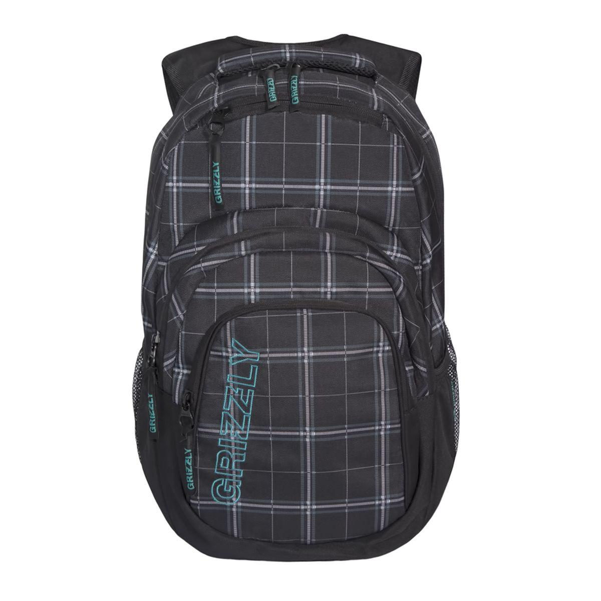 Рюкзак молодежный Grizzly, цвет: черный, серый, белый. 32 л. RU-704-2/3RU-704-2/3Рюкзак молодежный, одно отделение, карман на молнии на передней стенке, объемный карман на молнии на передней стенке, боковые карманы из сетки, внутренний составной пенал-органайзер, внутренний укрепленный карман для ноутбука, укрепленная спинка, карман быстрого доступа в верхней части рюкзака, мягкая укрепленная ручка, нагрудная стяжка-фиксатор, укрепленные лямки