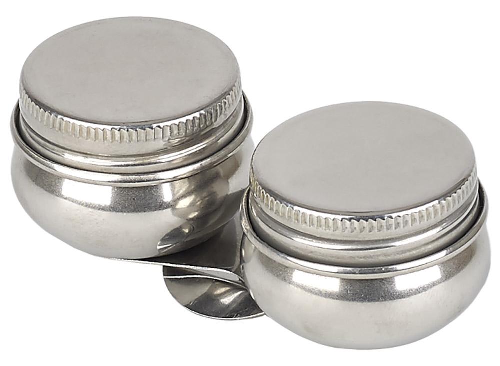 Малевичъ Масленка металлическая двойная с крышкой