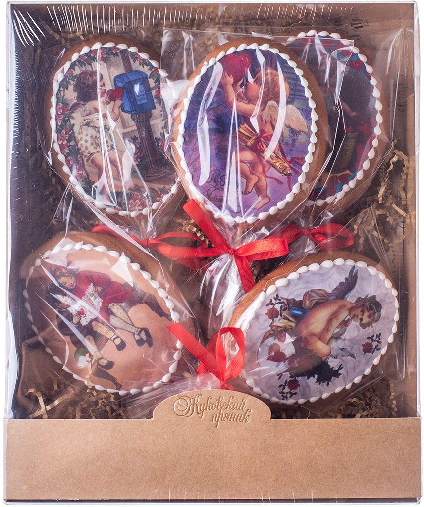 Жуковский пряник Подарочный набор овальных ретро-открыток, 4 шт