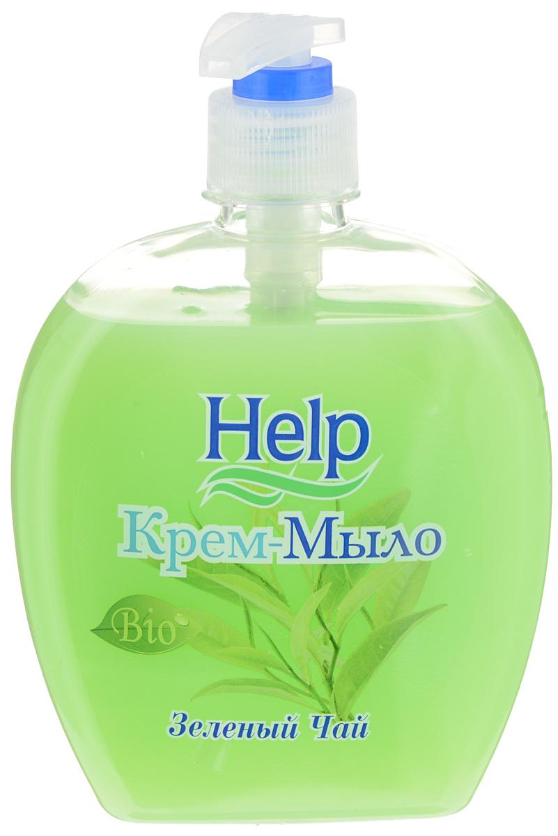 Жидкое мыло Help Зеленый чай, с дозатором, 500 г4605845001401Мыло Help Зеленый чай мягко очищает, увлажняет, придает мягкость коже рук. Специальные компоненты дополнительно питают кожу рук во время мытья. Мыло обладает гипоаллергенной парфюмерной композицией с ярким ароматом и пышной пеной. Товар сертифицирован.